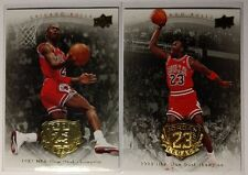 Rare Lot of 2: Michael Jordan, 2009 Upper Deck Legacy Gold 87 88 Slam Dunk Champ