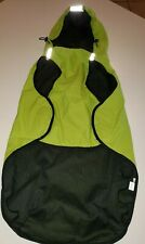 NEW DOG RAIN COAT MESH LINED size XL green REFLECTIVE STRIPES HOOD so cute @@