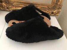 Fit Flop Negro Peludo Slipper Talla 6 Comodidad Cálido