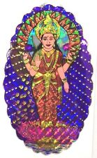 Traditional and Colourful Standing Laxmiji Foil Sticker –Hindu Religious Sticker