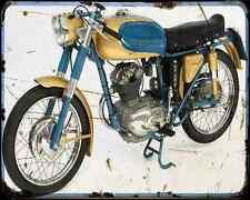 Ducati 125 Sport 65 A4 Metal Sign Motorbike Vintage Aged