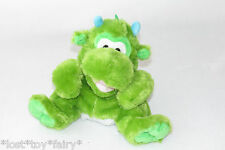 KellyToy Green Dinosaur Dragon Seated Plush Hand Puppet Floppy Stuffed Toy 9""