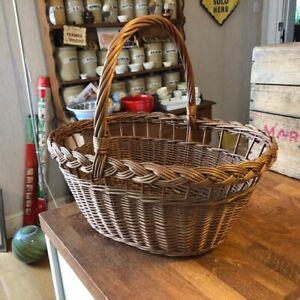 Vintage Wicker Shopping Basket – Good Condition – Kitchenalia!