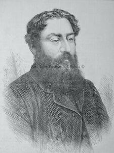 1871 Original Print PORTRAIT of MR. T.W. ROBERTSON - THE DRAMATIST