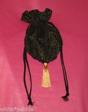 Handmade purse/bag/tote - Evening bag/Gift Bag - Black/Gold Swirls - Small