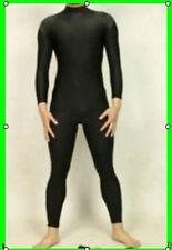 NEW. Black Lycra Zentai spandex Unisex catsuit S-XXL