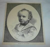 1893 magazine engraving ~ ALPHONSO XIII, King of Spain