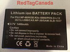 Battery for HP Photosmart R07 A1812A L1812A L1812B Olympus Li-20B Pentax D-Li2