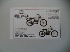 advertising Pubblicità 1975 MOTO MULLER 125 CR/GTC 50 CROSS