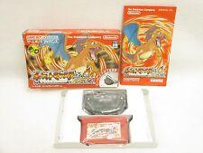 POKEMON FIRE RED + Adapter Pocket Monster Game Boy Advance Nintendo Japan gba