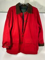 PRESTON & YORK SPORT Women's MED Red Nylon Lined Coat Jacket W/ 4 Pockets - USED