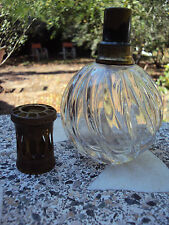 ANCIENNE LAMPE BERGER BOULE EN VERRE DÉBUT 20ème