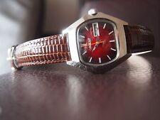 ORIENT QUARTZ  VINTAGE 70S RETRO-SCX281-RED DIAL