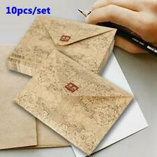 10pcs Brown Kraft Paper Vintage Envelope Stationery Postcards Cover Envelopes