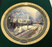 "Thomas Kinkade 1999 ""A HOLIDAY GATHERING"" 1st Issue Plate NIB  Bradford Gift"