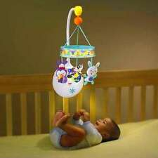 Mobile Toy Musical Nursery Crib Bed Baby Relaxing Music Box Night Lights Rotates