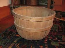 Early 1800's New England Wooden Oak Splint Apple / Potato Gathering Basket