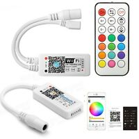 Bluetooth/Wifi LED Controller+ IR Remote For 5050/3528 RGB/RGBW LED Strip Light