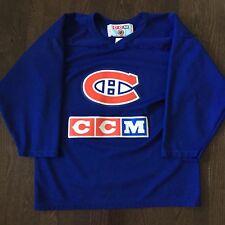 Vintage Montreal Canadiens NHL CCM Alternate Practice Jersey Mens Size M Sewn