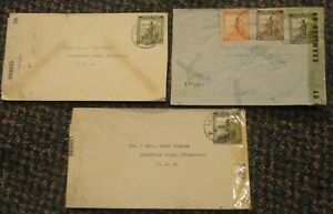 1940s WWII Belgian Congo censored covers to US