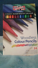 Koh-I-Noor Hardtmuth Woodless Colour Pencils-24 Colors. New. Free Shipping.