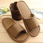 Fashion Men Women Bamboo Slippers Indoor Home Anti-slip Shoes Sandals Open Toe