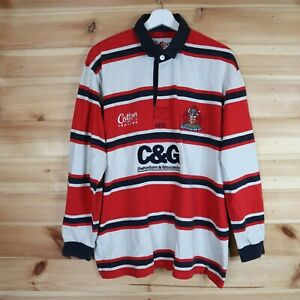 Cotton Traders Gloucester Rugby Shirt Home 2003 2005 Long Sleeve Large