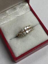14K YELLOW GOLD DIAMOND PYRAMID .86 TCW RING