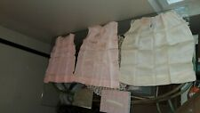 Lot, Antique Baby Book, 3 Handsewn Girls Baby Dresses w/ Lace, Baby Comb, Box