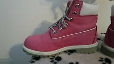 Timberland Pink Ladies boots Shoes 5 5m leather chukka waterproof winter walking