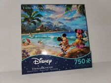 NEW! Ceaco Thomas Kinkade Puzzle Mickey and Minnie In Hawaii 750 pieces