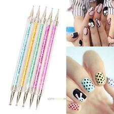 5PCS Set 2Way Nail Art Dotting Manicure Tools Painting Dot Pen Nail Art Paint #L