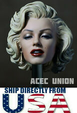 "1/6 Marilyn Monroe Head Sculpt 2.0 Painted For 12"" Hot Toys Phicen U.S.A. SELLER"