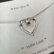 Stirling Silver True Friend Reaches Your Hand & Touches Your Heart Necklace.gift