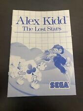 Alex Kidd The Lost Stars Sega Master System Manual Only