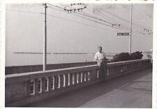 VERE FOTO ANNI 50 A SAN REMO ( IMPERIA ) TRENO BINARIO STAZIONE 13-232