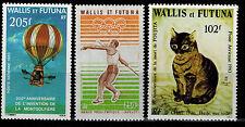 Timbre Poste Aérienne N° 124 --> 126  de Wallis et Futuna neufs **