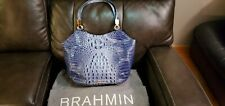 BRAHMIN Melbourne Collection Marianna Crocodile-Embossed Tote Bag