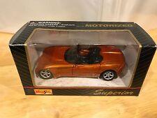 MAISTO Dodge Copperhead Concept Car 1/39 Scale Pull Back Action Orange Diecast