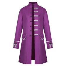Men Frock Coat Steampunk Retro Tailcoat Jacket Gothic Vintage Cosplay Uniform US