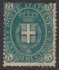 ITALY :1889  Arms of Savoy 5c green  SG 38 mint