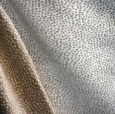White Cream Leopard Chenille Upholstery Fabric Siamese