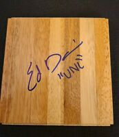 ED DAVIS SIGNED NBA HARDWOOD FLOORBOARD UNC TARHEELS W/COA+PROOF RARE WOW