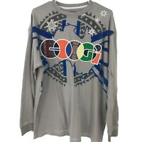 Coogi Adult Shirt T 2XL XXL Gray Graphic Embroidered Mens