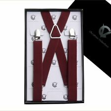 Men's Burgundy X2.5cm Braces
