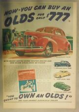 Oldsmobile Car Ad: You Can Buy an Olds for Only $777 from 1939 Size: 11 x 15