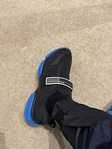 ✅ 100% Genuine Prada Mens Cloudbust Size UK7.5 Knit Low Top Sneakers Black Blue