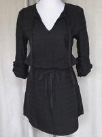 NWT! Lou & Grey 100% Cotton Roll-tab Sleeve Drawstring Waist Dress
