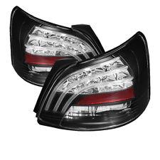 Toyota 07-11 Yaris 4Dr Sedan Black LED Rear Tail Brake Lights Set S Core Premium