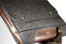 Pack & Smooch Dark Gray Felt Brown Leather iPad Pro Tablet Laptop Sleeve Case